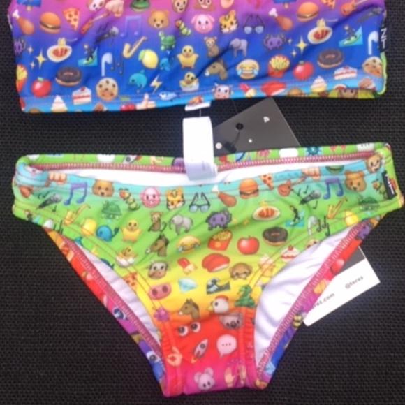 581a08748c Zara Terez Swim | Emoji Rainbow Sports Bra Bikini | Poshmark